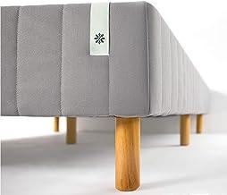 Zinus Justina Quick Snap Standing Mattress Foundation | Platform Bed, No Box Spring Needed | Grey, Queen