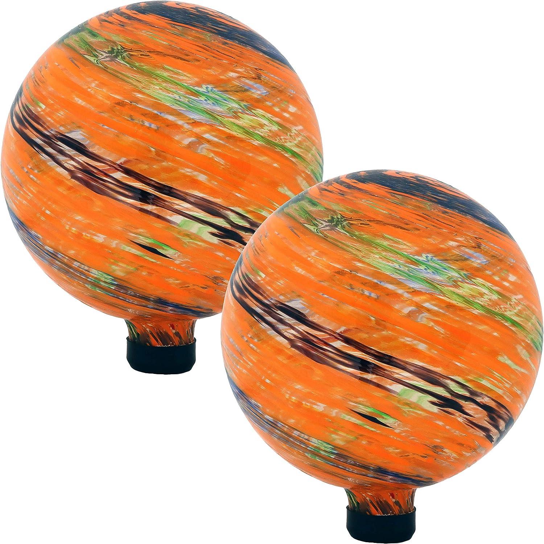 Sunnydaze Sunset Sky Ranking TOP13 Glass Outdoor S Gazing Sale item 10-Inch Globe Ball