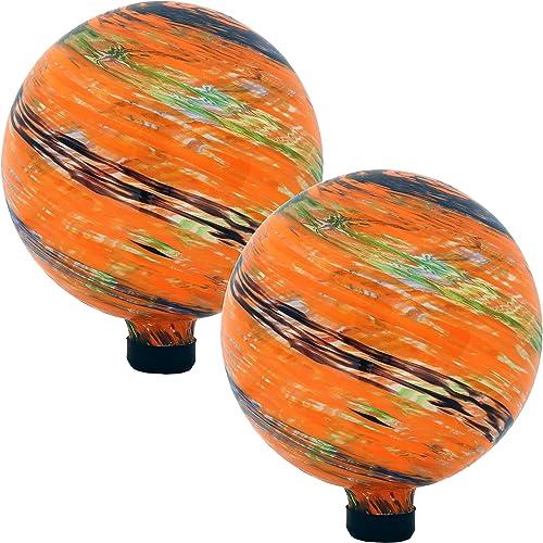 high quality Sunnydaze Sunset Sky Glass popular Outdoor Gazing Ball Globe, 10-Inch, outlet online sale Set of 2 online sale