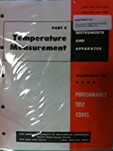 Temperature Measurement Part 3 Instruments And Apparatus Supplement To Asme Performance Test Codes