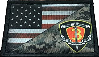 USMC 3rd Marines Regiment USA Flag Morale Patch Tactical Military. 2x3