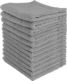 Utopia Towels - Lot de Serviettes de Toilette Premium (30 x 30 CM, Gris) 600 GSM 100% coton, Gants de toilette/Serviette d...