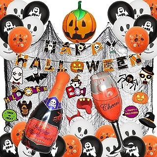 AMAYGA Halloween party decoraties, Halloween-ballonset, 56 stuks Happy Halloween banners set geesten ballonnen, pompoenbal...