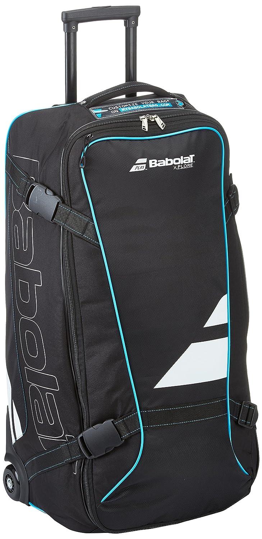 Babolat(バボラ) テニス バドミントン ラケットバッグ キャスター付き TRAVEL BAG ブラックXブルー(047) BB752032