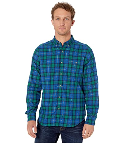 Nautica Brushed Twill Woven Shirt (Spruce) Men
