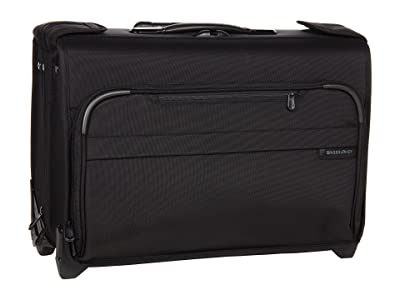 Briggs & Riley Baseline Carry-On Wheeled Garment Bag 2 (Black) Carry on Luggage