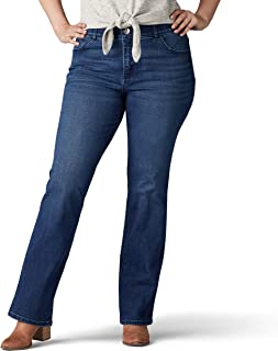 LEE Women's Plus-Size Flex Motion Regular Fit Bootcut Jean