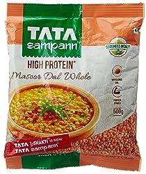 Tata SampannMasoor Dal, Whole, 500g