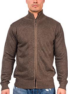 TR Fashion Men's Long Sleeve Soft Casual Full Front Zip Cardigan Sweater