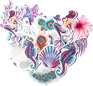 Mermaid Tales 1//2 to 1-1//4 White 14CC362 Fused Glass Decals Must be kiln fired