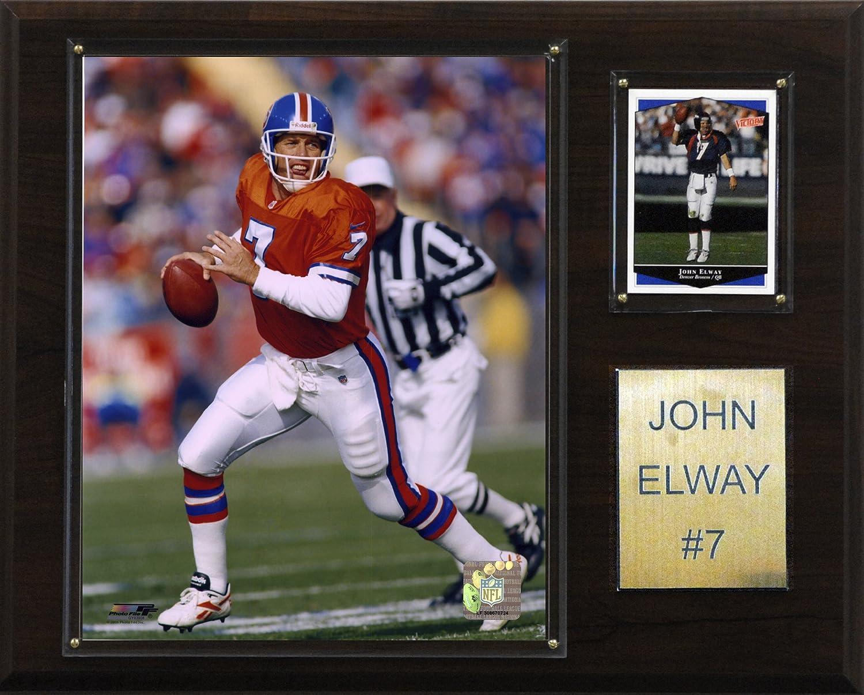 NFL John Elway Denver Broncos Player Plaque