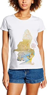 Disney Princess Filled Sillhouette Belle T-Shirt Femme