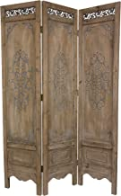 Oriental Furniture 6 ft. Tall Antiqued Scrollwork Room Divider