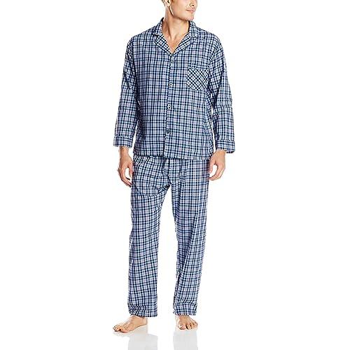 Hanes Men s Woven Plain-Weave Pajama Set 71fdce45e