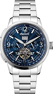 Ingersoll - The Regent Mens Automatic Watch I00305 with a Navy Dial and a Silver Stainless Steel Band
