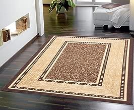 Ottomanson Contemporary Bordered Design Modern Area Rug, 5' W x 6'6