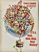 1963 - Cinerama - It's A Mad, Mad, Mad, Mad World Official Vintage Movie Program - Stanley Kramer Film - Spencer Tracy and a Huge Cast - Collectible - Frazetta Art