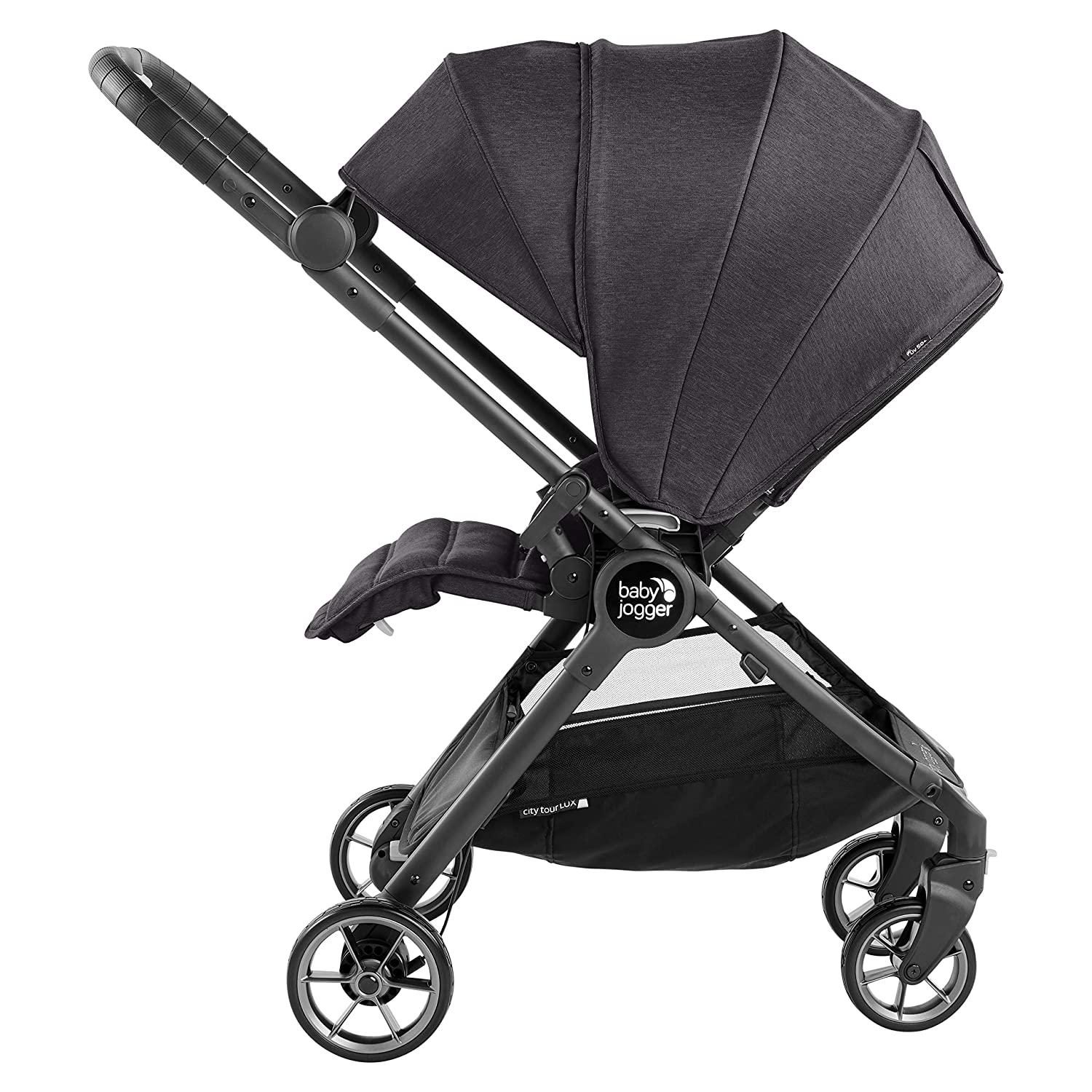 Baby Jogger City Tour LUX Stroller   Compact Travel Stroller   Lightweight Baby Stroller with Backpack-Style Carry Bag, Perfect for Travel, Granite