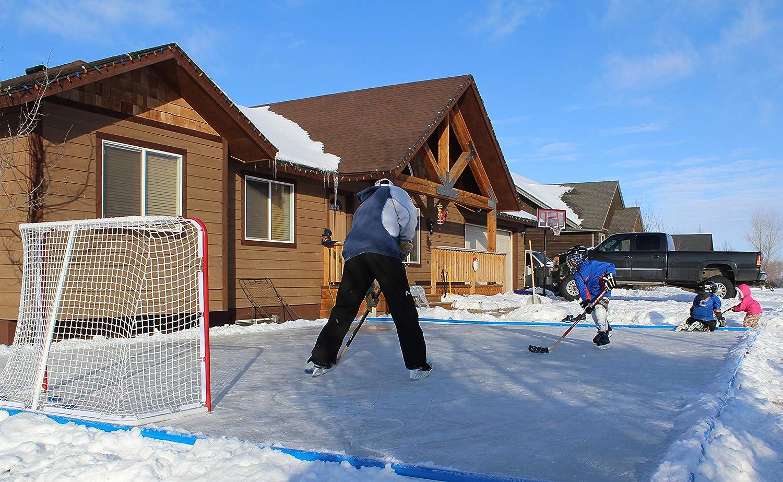 Ice N Go Ez Rink 2 0 Kit 12 X 27 Backyard Ice Skating Rink Kit Amazon In Toys Games Backyard rink kit amazon