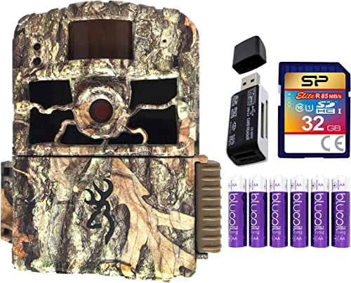new arrival Browning BTC-6HD-MAX Dark Ops HD MAX Trail Camera with Smart IR Video new arrival Recording Bundle with Blucoil 6 AA Batteries, 32GB SDHC Memory Card, and high quality USB 2.0 Card Reader online