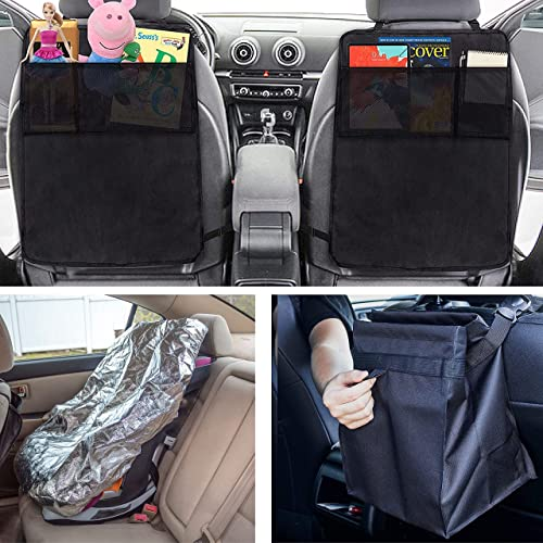 high quality EcoNour Gift Bundle   Car Seat Kick Mats for Kids + Waterproof Sweat Towel with Seat Belt Cover + Hanging Car Trash Bag   outlet online sale Baby Back Seat Protector   Car popular Accessories   Auto Car Organizer online