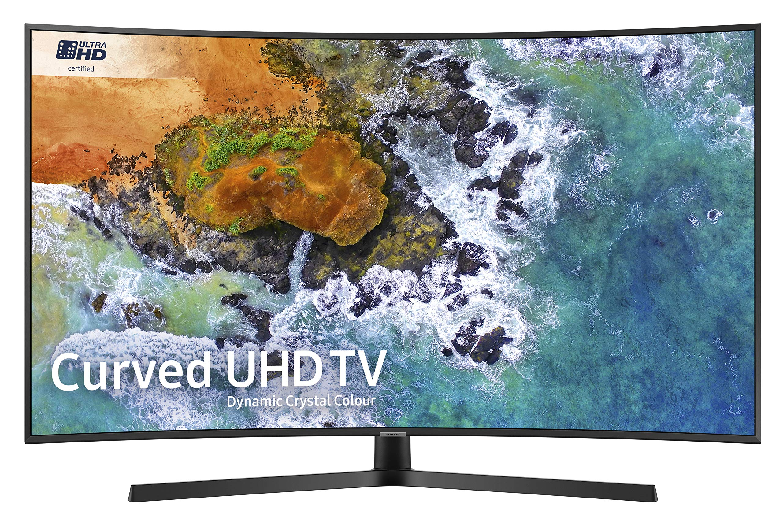 SAMSUNG Ue55nu7500 55 Pulgadas Curvado dinámico Cristal Color 4k Ultra HD HDR Certificado Smart TV: Amazon.es: Electrónica