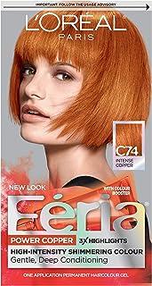 L'Oreal Paris Feria Multi-Faceted Shimmering Permanent Hair Color, C74 Copper Crave..