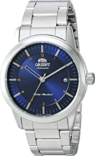 Orient Men's Sentinel Japanese-Automatic Watch with Stainless-Steel Strap, Silver, 22 (Model: FAC05002D0)