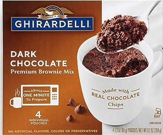 Ghirardelli Mug Brownie Mix, Dark Chocolate, 2.3 Ounce (Pack of 24)