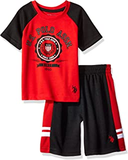 Boys' 2 Piece Sleeve Tee and Mesh Short Set