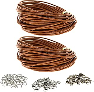 4 Meters Beige Color Soft Genuine Leather Thread Cords Round 4mm Beading Strings DIY Jewelry Making Lacing Sewing Crafts Bracelets Necklaces Pendants Findings