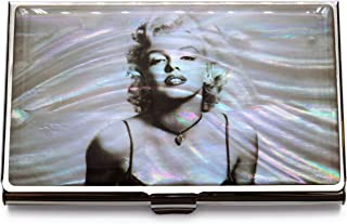 Marilyn Monroe Grey Business Credit Card Holder Name ID Case Mother of Pearl Metal Thin Travel Wallet