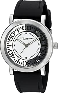 Stuhrling Original Women's 830.01 Symphony Quartz Black Silicone Strap Watch