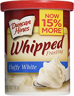 Duncan Hines Whipped White Frosting, 14 oz