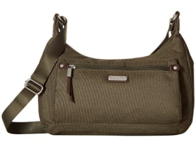 Baggallini New Classic Out and About Bagg with RFID Phone Wristlet (Olive) Bags
