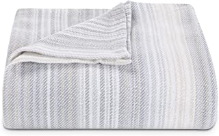 Tommy Bahama Sandy Shore Stripe Blanket, Full/Queen, Beige