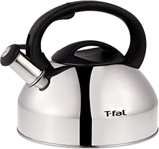 T-fal C76220 Specialty Stainless Steel Dishwasher Safe Whistling Coffee and Tea Kettle,..