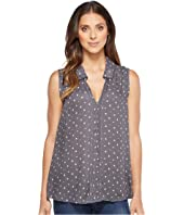 B Collection by Bobeau - Sleeveless Star Print Tank Top