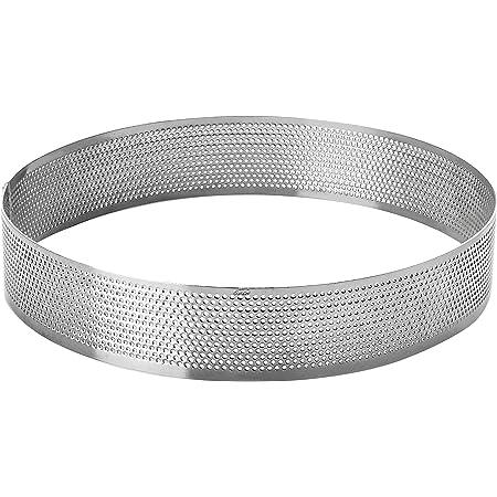 LACOR 68540 Cercle Rond perforé d20 h2 cm, Acier Inoxydable, Gris, 20 cm