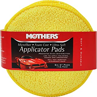 Mothers 156801 Yellow Microfiber Ultra Soft Applicator Pad (Six 5 Inch Pads)