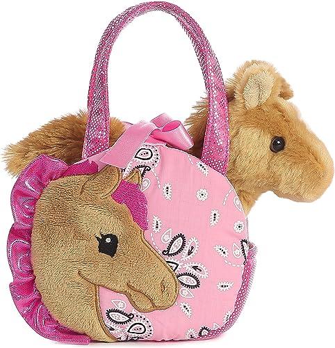 "Aurora World Fancy Pals Pretty Pony Pet Carrier Pink, 5.5"""