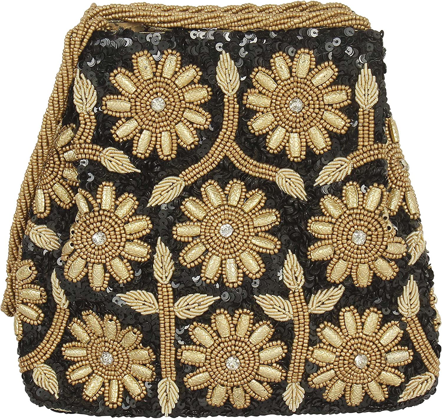 { Extra 10% Discount } Purse Collection Black Design Potli Fully Decorated By Work