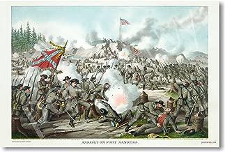 Assault on Fort Sanders - Civil War - 1863 - NEW Classroom Social Studies Poster