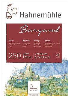 Hahnemühle Aquarellkarton Burgund, rau, 250 g/m², 17 x 24