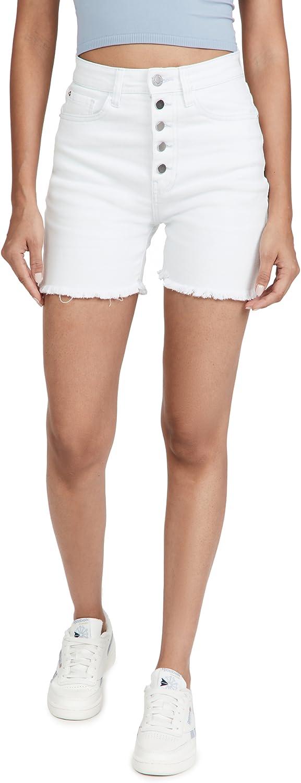 WeWoreWhat Women's Biker Button Fly Shorts