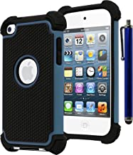 Bastex Hybrid Armor Case for Apple iPod Touch 4, 4th Generation - Blue+BlackINCLUDES Stylus