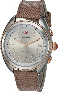 Women's Hybrid Smartwatch Stainless Steel Quartz Watch with Leather-Lizard Strap, Pink, 17.8 (Model: MWWT32A00012)