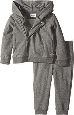 Hudson Kids - Two-Piece Fleece Hoodie w/ Jogger Pants Set (Infant)