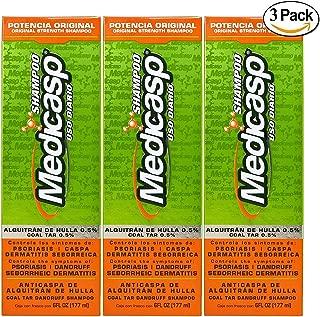 Medicasp Coal Tar Gel Dandruff Shampoo to Treat Seborrheic Dermatitis Psoriasis 3 Pack 6 oz