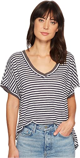 Free People - Take Me Tee Stripe